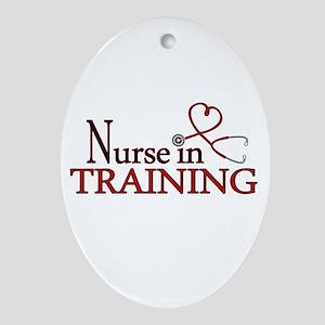 Nurse in Training Ornament (Oval)