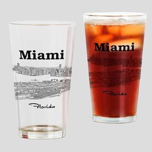 PortOfMiami_10x10_apparel_BlackOutl Drinking Glass