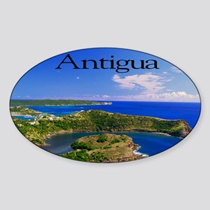 Antigua11.5x9 Sticker (Oval)