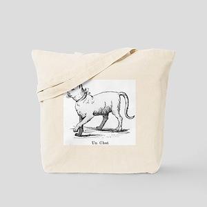 Un chat(cat) Tote Bag