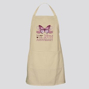 25th Wedding Aniversary (Butterfly) Apron