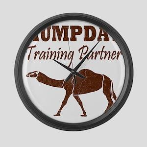 Vintage Hump Day Training Partner Large Wall Clock