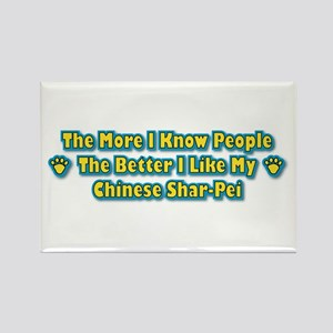 Like My Shar-Pei Rectangle Magnet