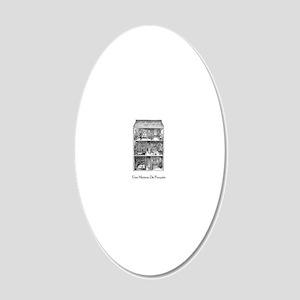 Une maison de poupee(dollhou 20x12 Oval Wall Decal