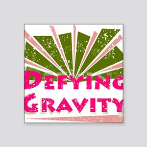 "defyinggravity Square Sticker 3"" x 3"""