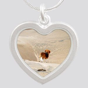 Dune Beagle Silver Heart Necklace