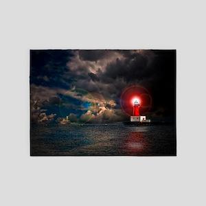 new lighthouse framed 5'x7'Area Rug
