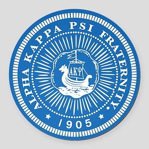 Alpha Kappa Psi Logo Round Car Magnet