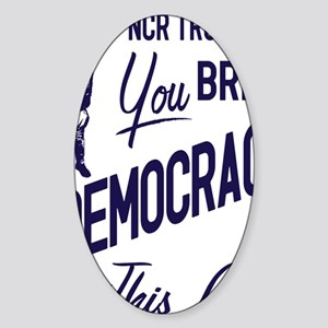 Democracy Light Sticker (Oval)
