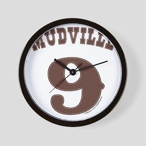 Mudville9 (brown) Wall Clock