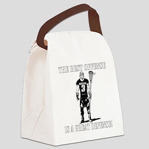 Lacrosse_BestDefense Canvas Lunch Bag
