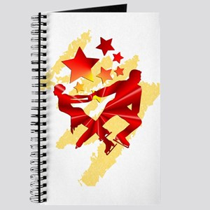 Pair Skaters Red Journal