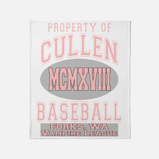 cullen baseball dark2 Throw Blanket