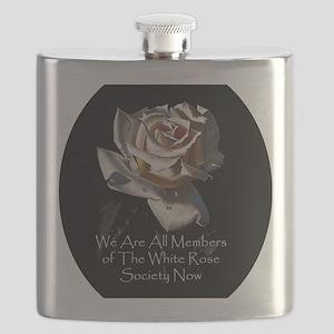 WhiteRoseOval Flask