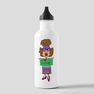 bingo-mama1-blk-bg Stainless Water Bottle 1.0L
