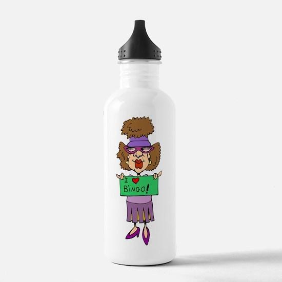 bingo-mama1-blk-bg Water Bottle