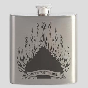 spade flames black Flask