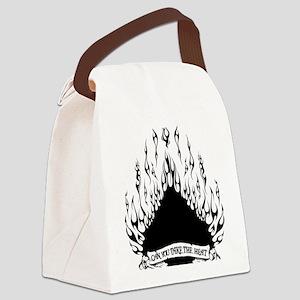 spade flames black Canvas Lunch Bag