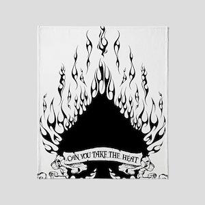 spade flames black Throw Blanket