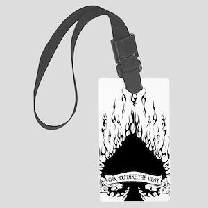 spade flames black Large Luggage Tag
