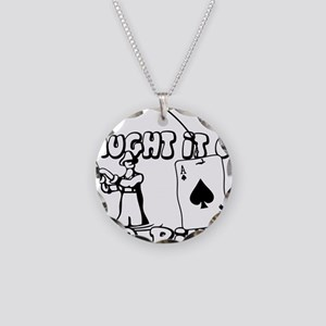 caught on river Necklace Circle Charm