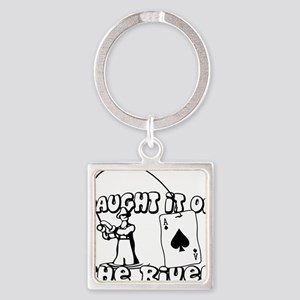 caught on river Square Keychain