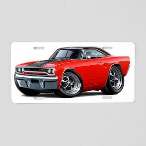 1970 Roadrunner Red-Black T Aluminum License Plate