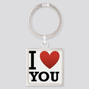 i-love-you-2 Square Keychain