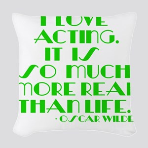 I LOVE ACTING Woven Throw Pillow