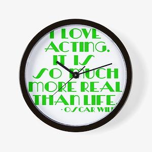 I LOVE ACTING Wall Clock