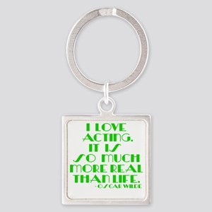 I LOVE ACTING Square Keychain