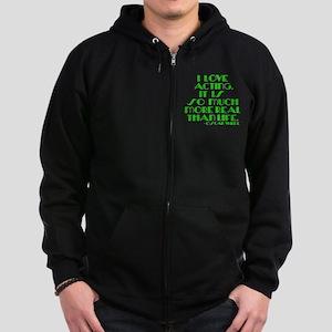 I LOVE ACTING Zip Hoodie (dark)