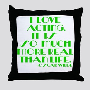 I LOVE ACTING Throw Pillow