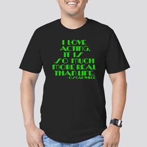 I LOVE ACTING Men's Fitted T-Shirt (dark)