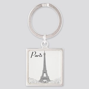 EiffelTower_10x10_apparel_BlackOut Square Keychain