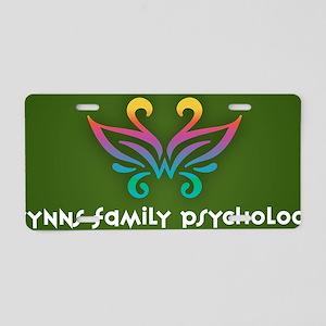 Wynns_Family_Psychology_Log Aluminum License Plate