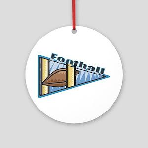 Football Blue Pennant Ornament (Round)
