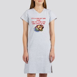 duplicate bridge Women's Nightshirt