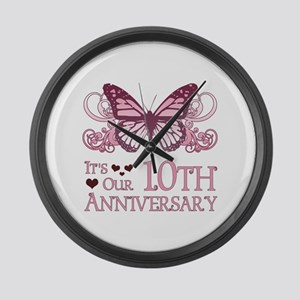 10th Wedding Aniversary (Butterfly) Large Wall Clo
