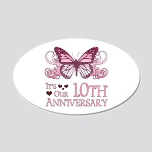 10th Wedding Aniversary (Butterfly) 20x12 Oval Wal