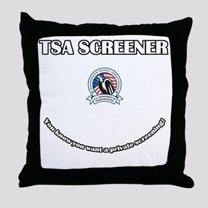 TSA_Screener Throw Pillow