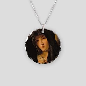 Madonna by Il Sassoferrato Necklace Circle Charm