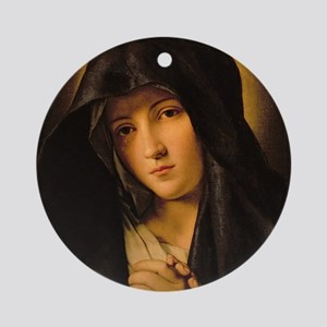 Madonna by Il Sassoferrato Round Ornament