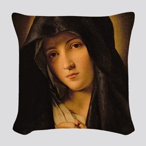 Madonna by Il Sassoferrato Woven Throw Pillow