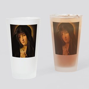 Madonna by Il Sassoferrato Drinking Glass