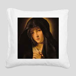 Madonna by Il Sassoferrato Square Canvas Pillow