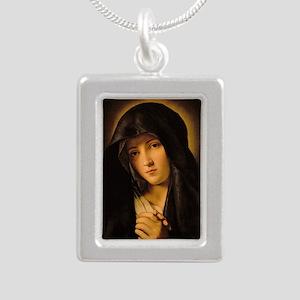 Madonna by Il Sassoferra Silver Portrait Necklace