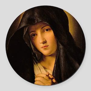 Madonna by Il Sassoferrato Round Car Magnet