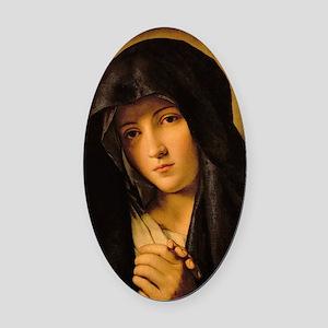 Madonna by Il Sassoferrato Oval Car Magnet