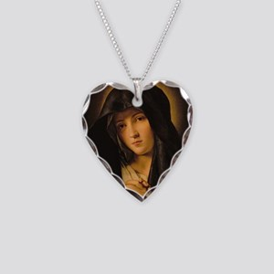 Madonna by Il Sassoferrato Necklace Heart Charm